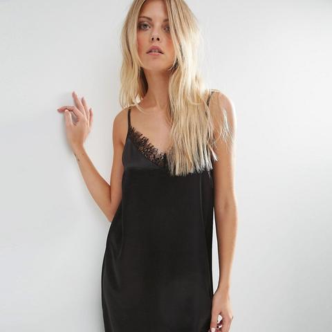Mini Slip Dress With Lace Detail