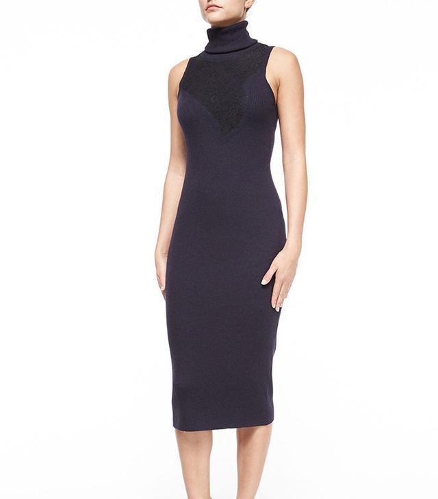 Rag & Bone Carolyn Sleeveless Lace Turtleneck Dress