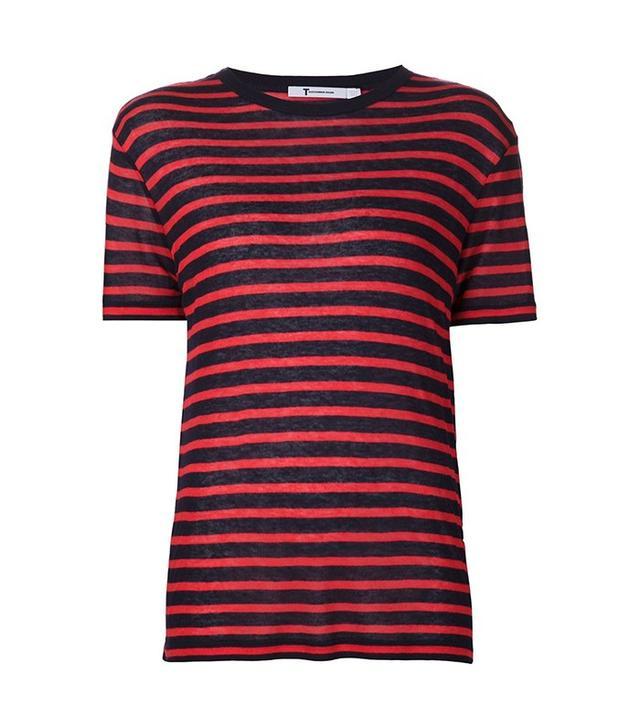 T by Alexander Wang Striped T-Shirt