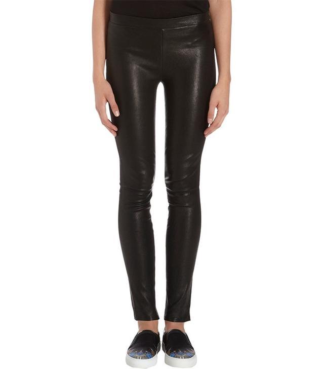J Brand Leather Pull-On Leggings