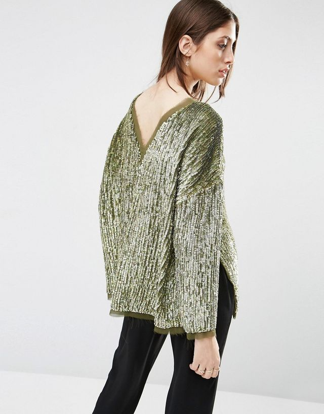 ASOS Oversize Sequin Sweat