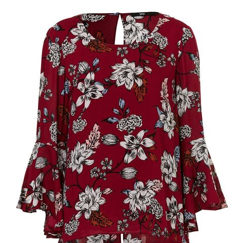 Floral Flare Sleeve Top