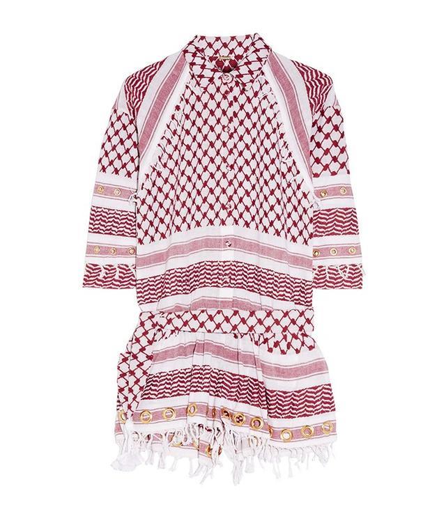 Dodo Bar Or Tasseled Eyelet Embellished Cotton-Gauze Playsuit