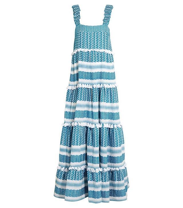 Dodo Bar Or Tiered Tasseled Cotton-Gauze Maxi Dress