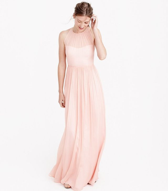 J.Crew Megan Long Dress in Silk Chiffon