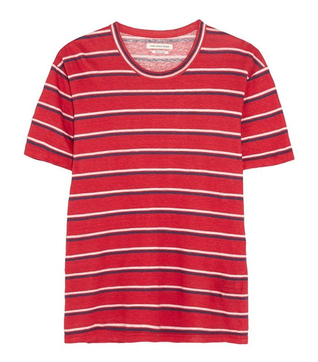 Étolie Isabel Marant Ken Striped Linen T-Shirt