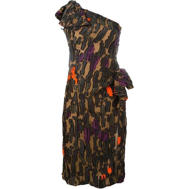 Versace Zebra Print Fil Coupe Dress