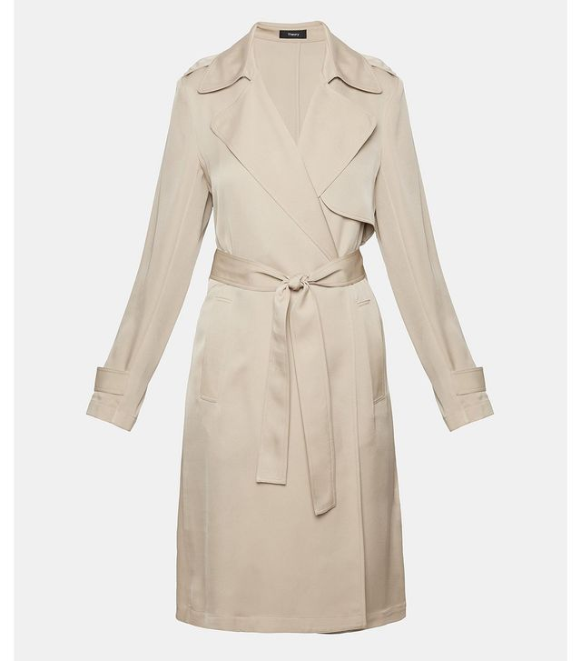 Theory Silk Trench Coat
