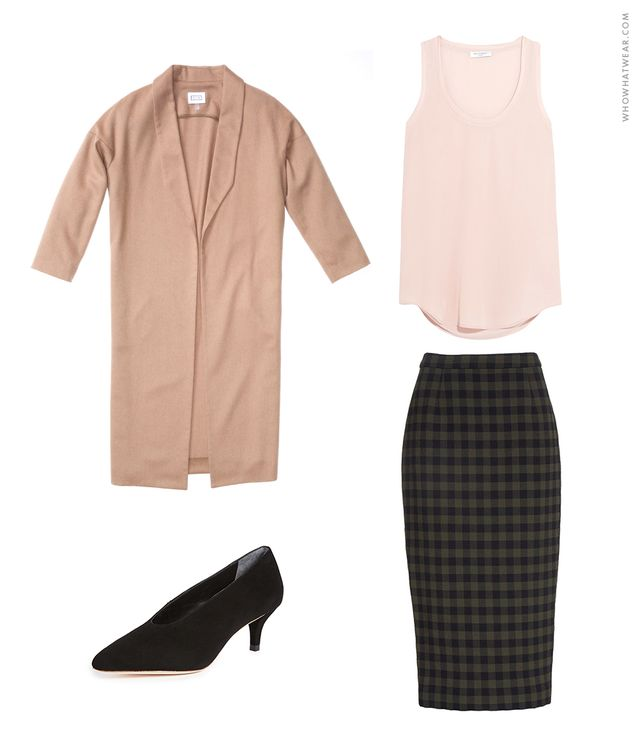 Pencil skirt outfit idea