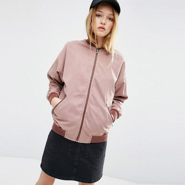 ASOS Relaxed Bomber Jacket