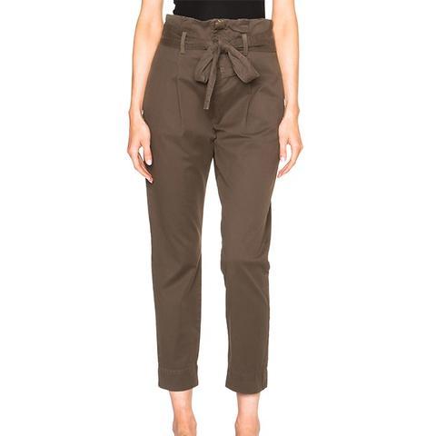Skinny Paper Bag Trousers