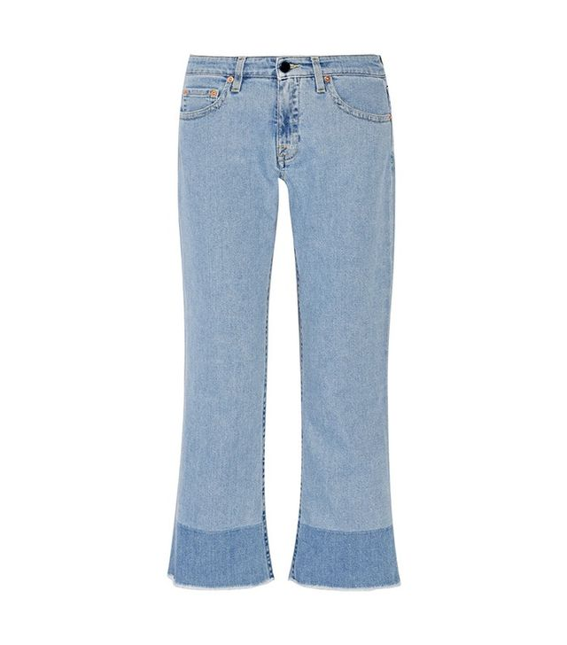 Victoria Victoria Beckham Cropped Mid-Rise Flared Jeans