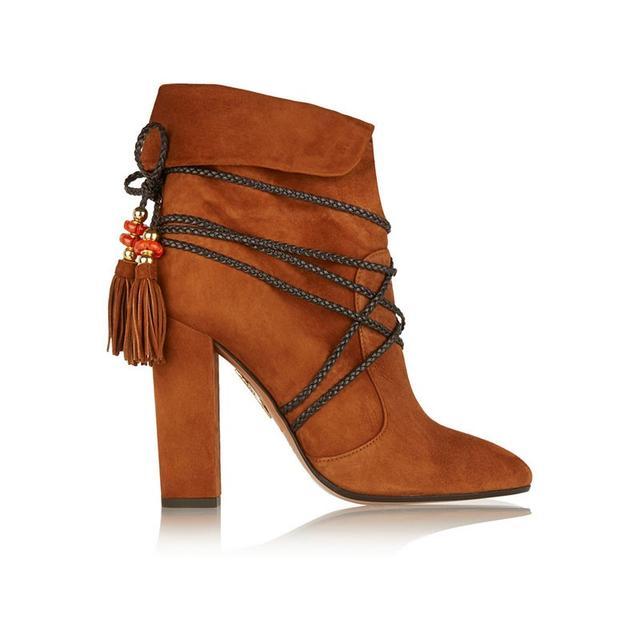 Aquazzura Poppy Delevingne Moonshine Suede Boots