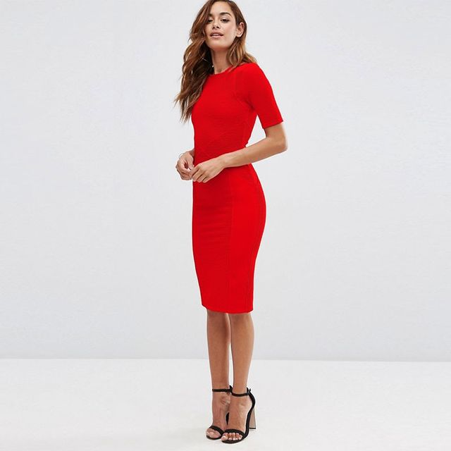 ASOS Seamed Structured Bodycon Dress