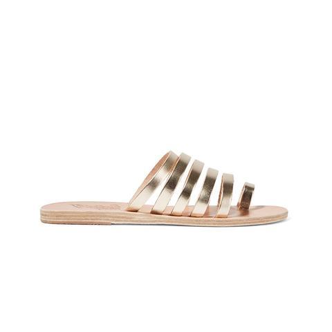 Niki Matallic Leather Sandals
