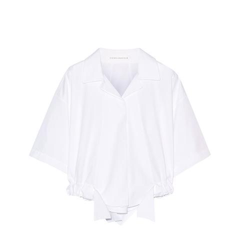 Cropped Cotton-Poplin Shirt