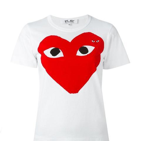 Play Heart Print T-Shirt