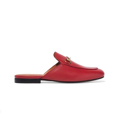 Princetown Horsebit-Detailed Leather Slippers