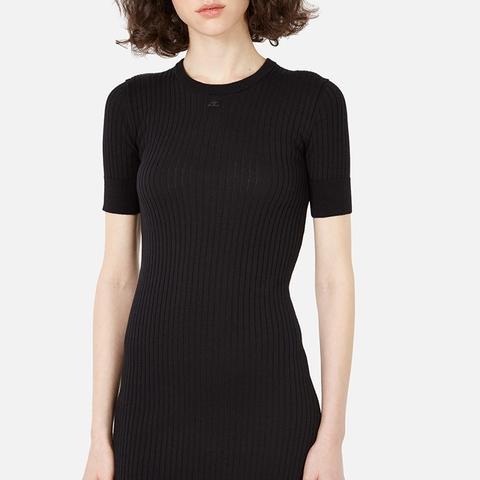 Classic Round Neck Short-Sleeve Dress