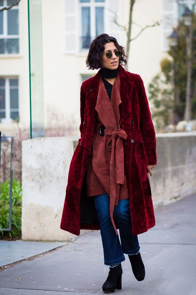 <p>Different textures like suede and fur add interest to your look.</p>