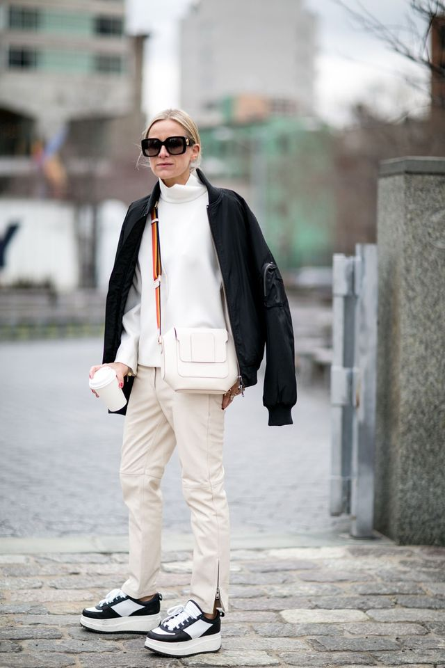<p>A thick bomber jacket will be just as warm as your coat.</p>