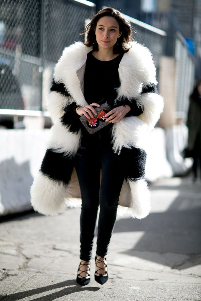 <p>For the brave: A fur coat is the ultimate style statement.</p>