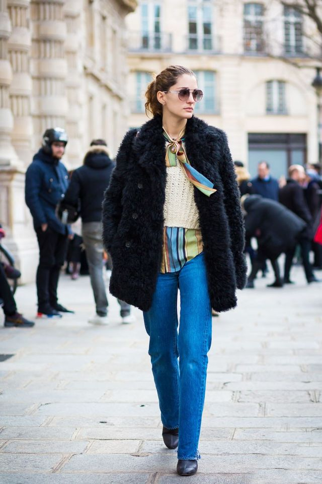 <p>Play with layering and colours—shirts under knits under coats.</p>