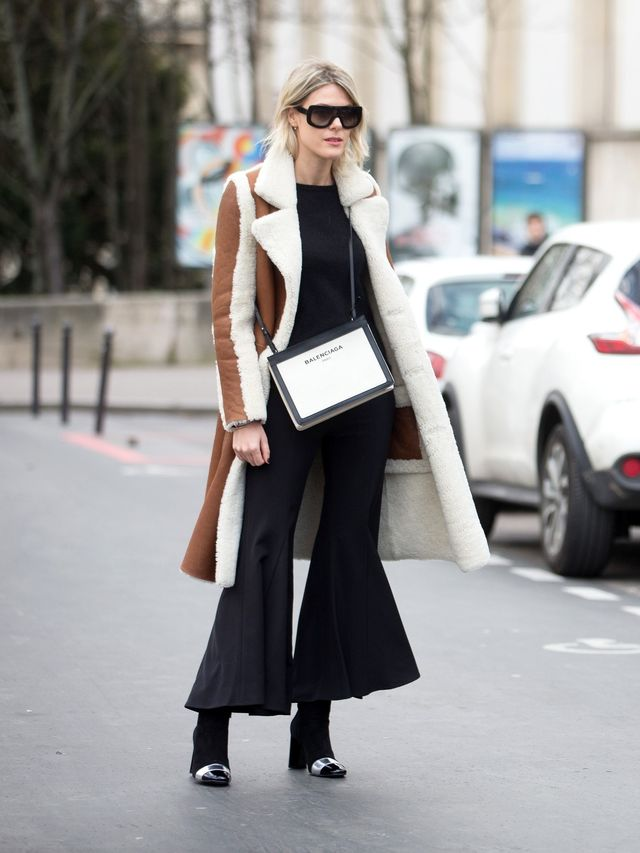<p>Make a shearling coat the statement of your look.</p>
