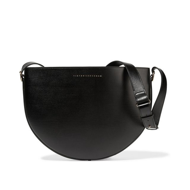 Victoria Beckham Malf Moon Leather Shoulder Bag