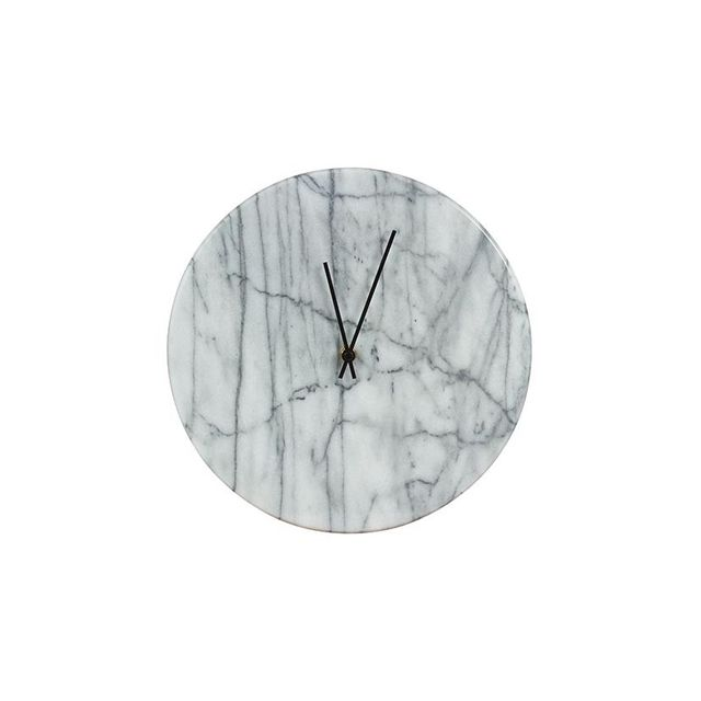 Freedom Marcella Clock 30cm in Marble
