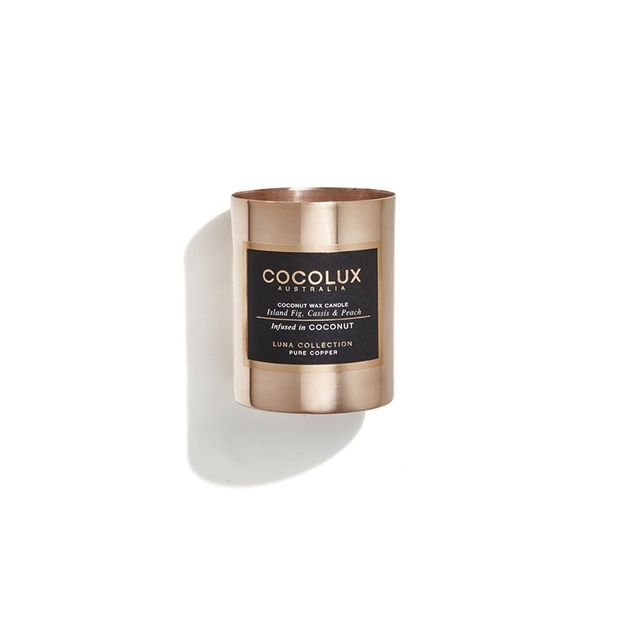 Cocolux Island Fig, Cassis & Peach Candle