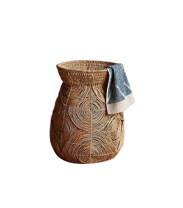 Anthropologie Abaca Spiral Basket