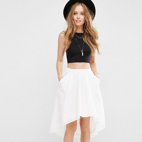 Dip Back Skirt