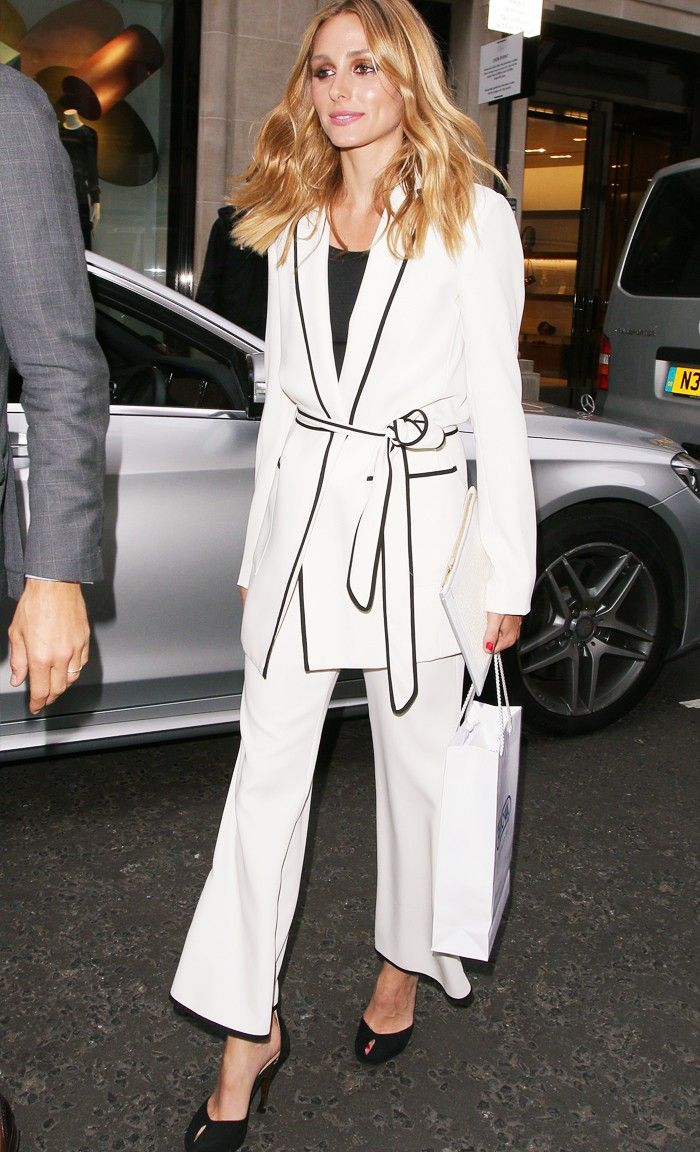 Olivia Palermo Wore the White Zara Suit Everyones After