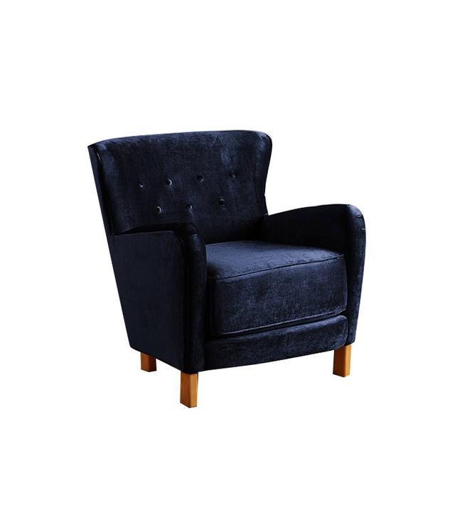 Anthropologie Slub Velvet Hartwell Chair