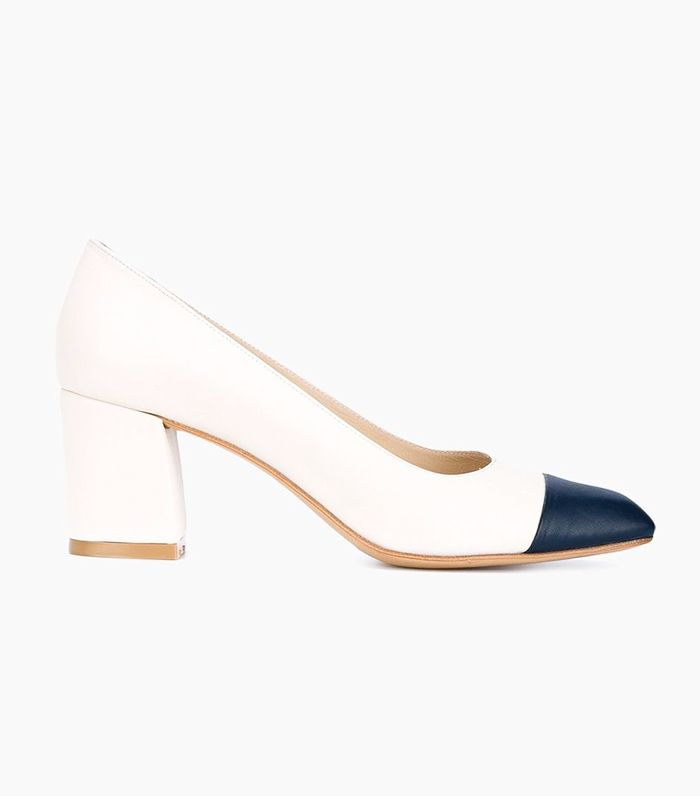 Two Tone Ladies Court Shoes