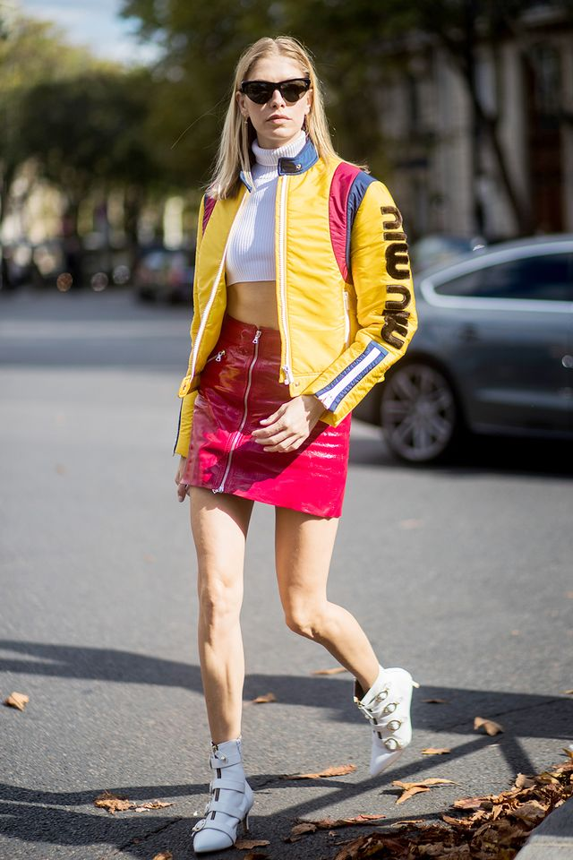 red and yellow street style outfit