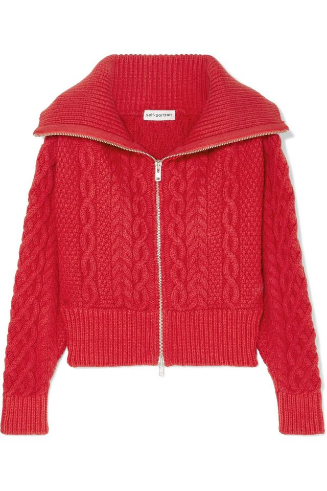 Cable-knit Cotton And Wool-blend Cardigan