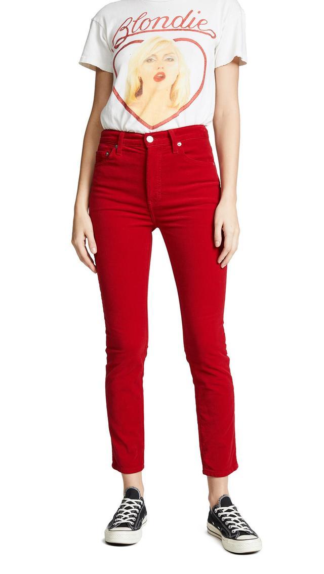 Velvet High Rise Crop Jeans