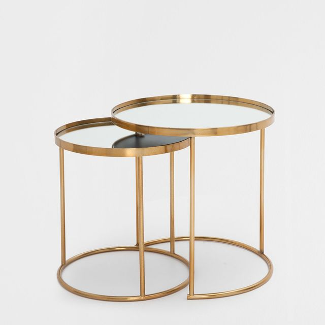 Zara Home Round Nest of Tables (Set of 2)