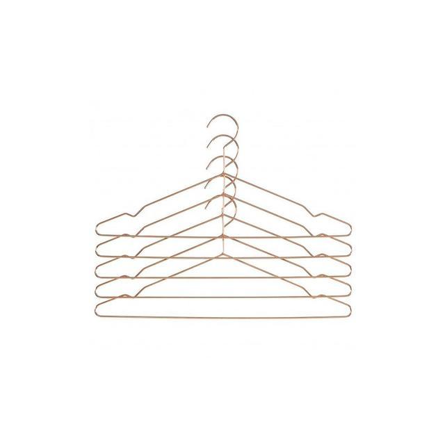 Hay Hang Coat Hanger Set of 5 Black or Copper