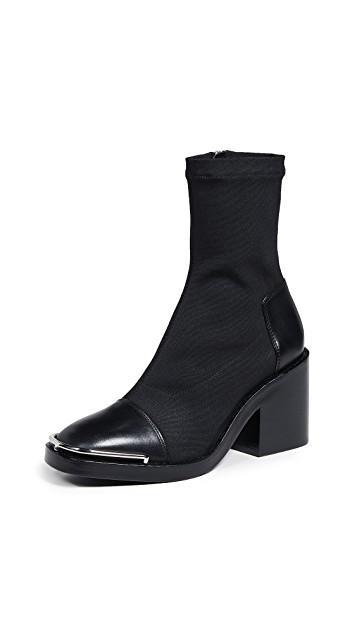6e8ec77cf Pinterest · Shop · Alexander Wang Hailey Mid Sock Heel Boots ...