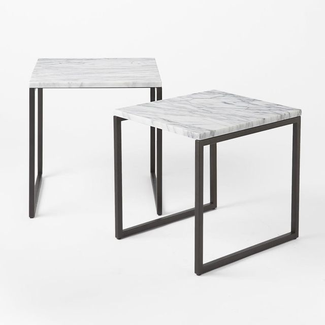 West Elm Box Frame Nesting Tables – Marble