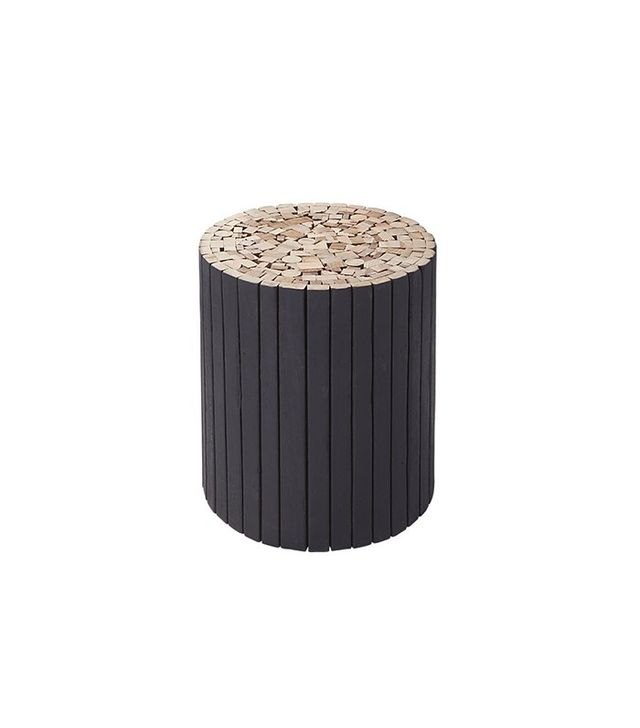 CB2 Charred Puzzle Table-Stool