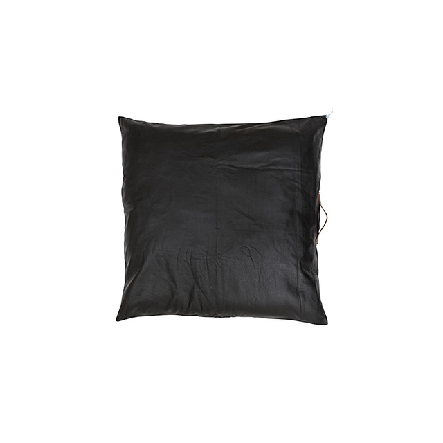 Amigos De Hoy Square Leather Floor Cushion, Black