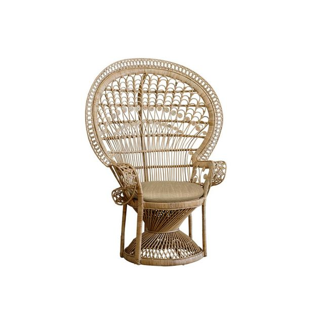 Family Love Tree Peacock Chair Natural
