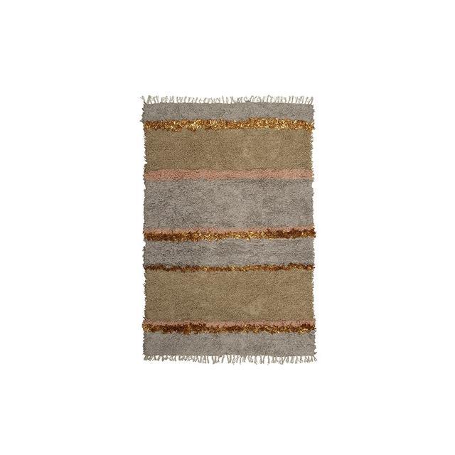 Langdon Ltd Striped Shag Rug