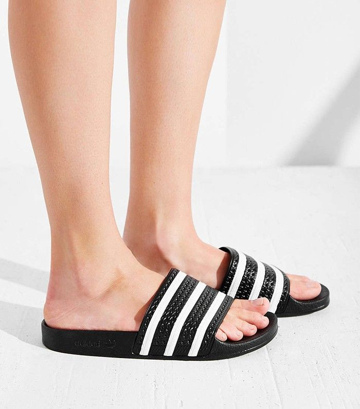 The Quot Ugly Quot Shoe Trend Adidas Sandals Who What Wear