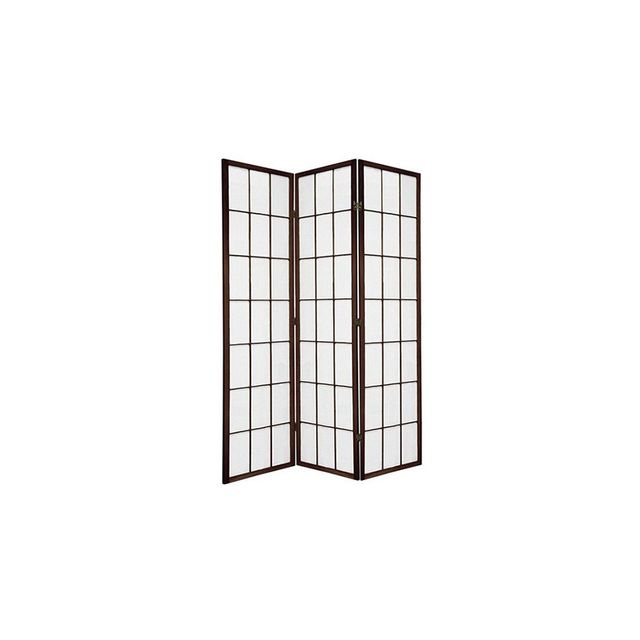 Brown Shoji 3 Fold Room Divider 132cm Wide