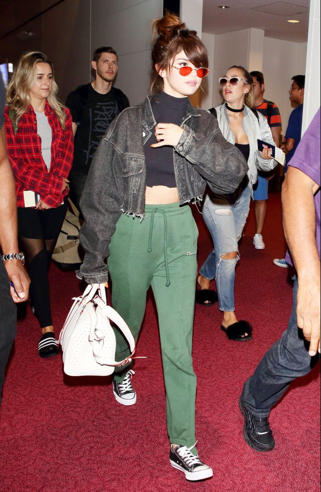"""<p><strong>On Gomez:</strong> Vetements <a href=""""http://www.kirnazabete.com/designers/vetements/vetements-push-up-sweatpants-green?source=shopstyle"""" target=""""_blank"""">Push Up Sweat..."""